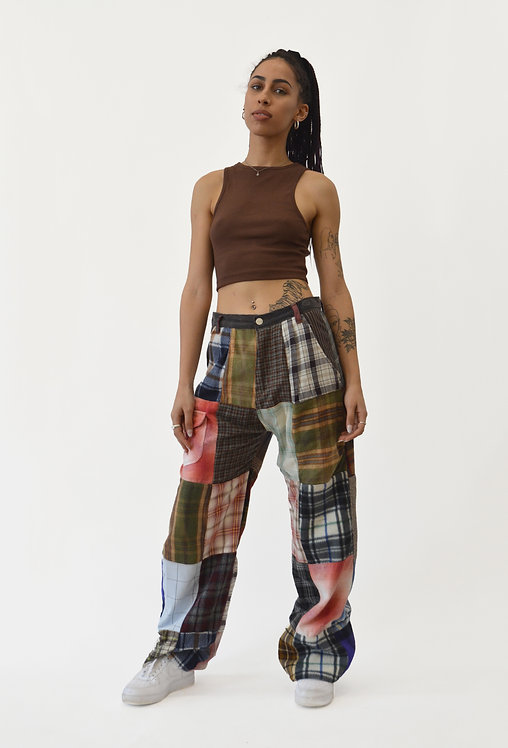 """REWORKED PATCHWORK PANTS (30"""")"""