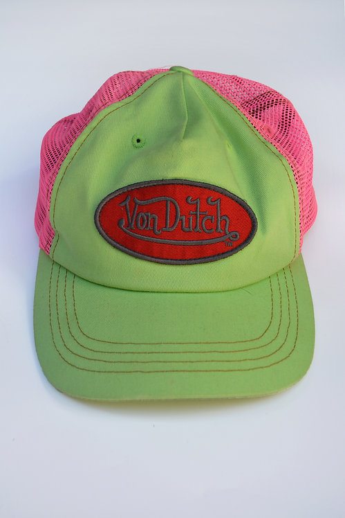Y2K VON DUTCH TRUCKER CAP