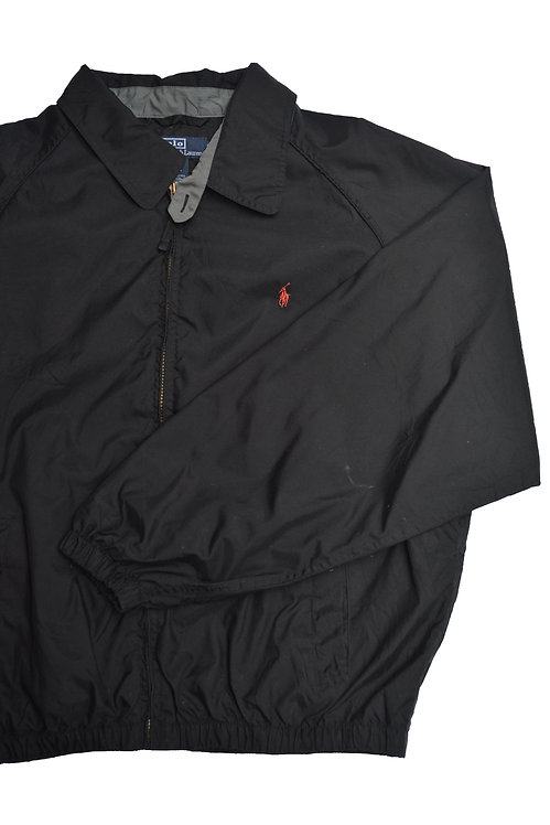 BLACK WINDBREAKER RALPH LAUREN HARRINGTON JACKET (XL)