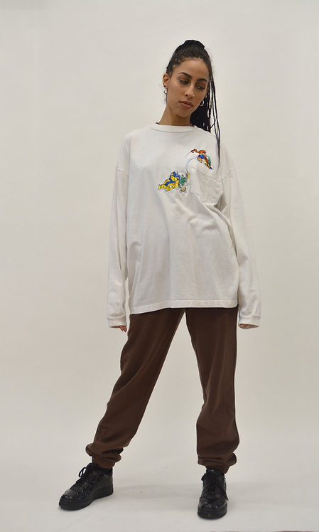 EMBROIDERED POOH & TIGGER LONG SLEEVE (L)