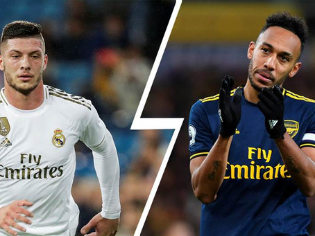 Going from Pierre-Emerick Aubameyang to Luka Jovic would be a massive downgrade