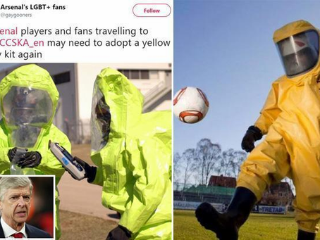 Finton's Frolic: Pros and Cons of Arsenal players donning Hazmat suits to get Football back
