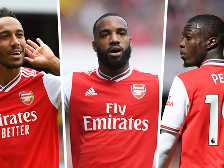 Why Pepe, Lacazette and Aubameyang are ineffective as a front three