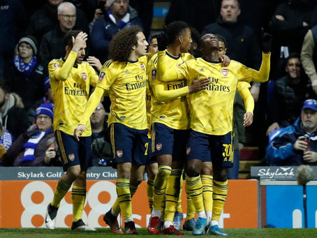 Arsenal cruise to FA Cup Quarter-Final after Plowing past Pompey at Fratton park