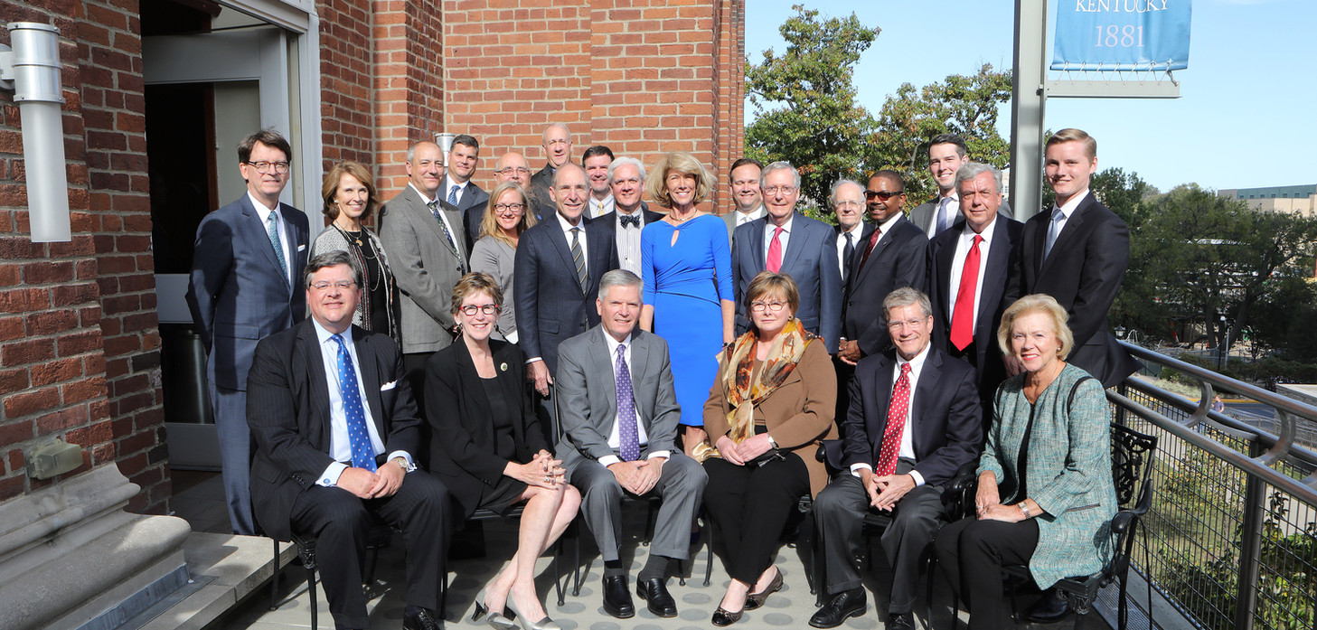 Friends and peers of Judge Heyburn and his wife attended the unveiling to support the new Initiative. They included: judges from the Eastern and Western Districts of Kentucky, the District of Kansas, the Third and Sixth Circuits, leaders of UK and Administrative Office of the Courts, the U.S. Senate Majority Leader, and members of the Initiative Advisory Board.