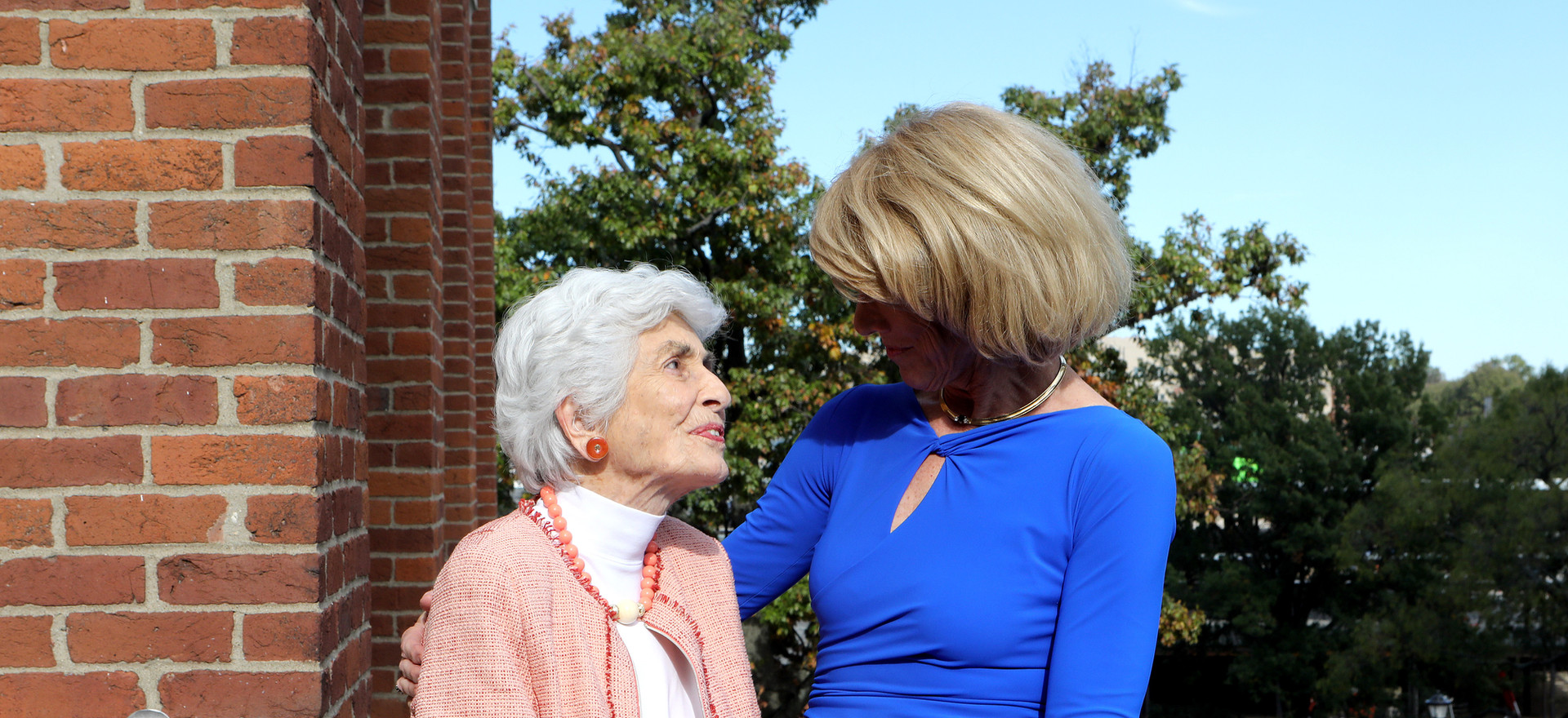 Many friends and family members from across the country supported Dr. Martha Heyburn by attending the Initiative unveiling. Pictured here is Dr. Heyburn, and her mother, Dr. Virginia Keeney.
