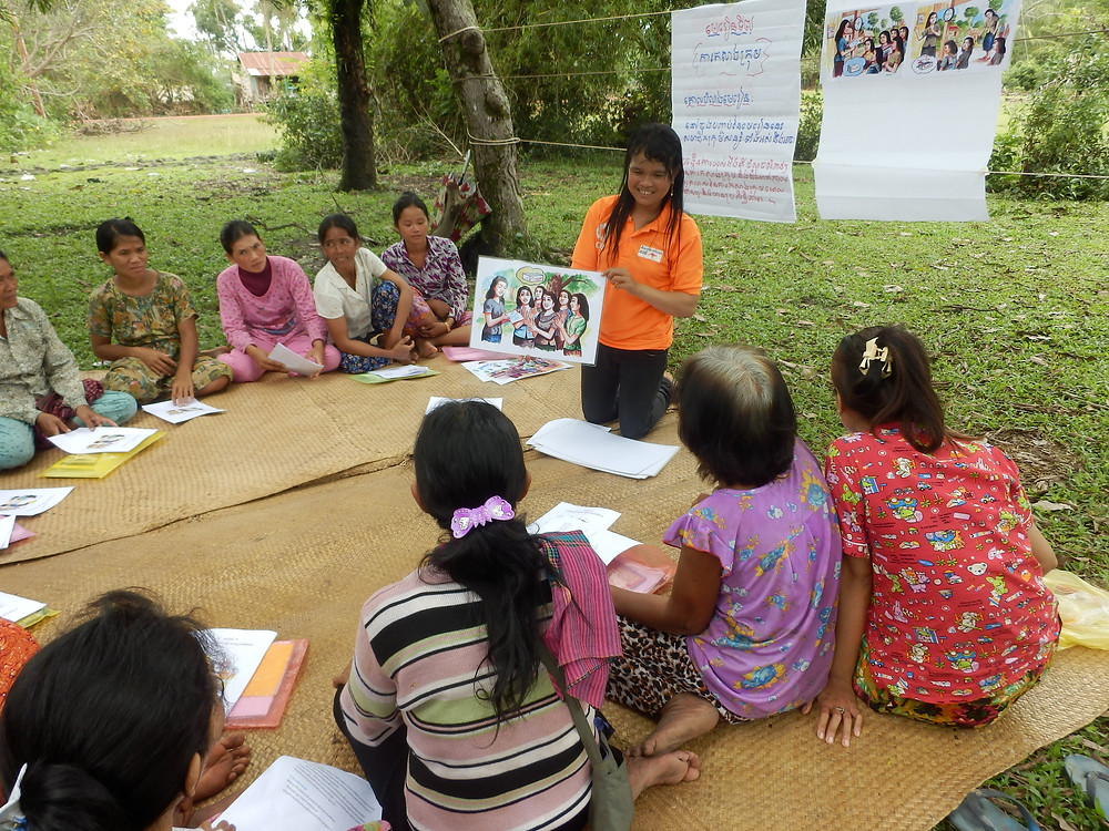 PCST-VA delivering life skill training session in Saray village1.JPG