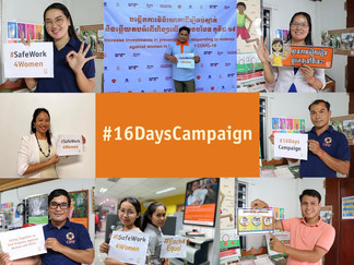 CARE's work on ending violence and sexual harassment in the world of work for 16 Days