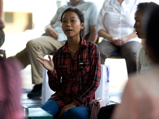 What does financial independence mean for mothers in Cambodia?