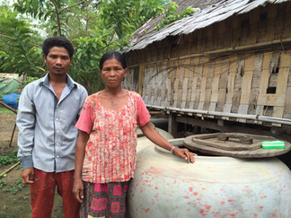 How simple water jars are changing  family dynamics during drought in Cambodia