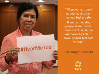 CARE focuses on ending violence in the world of work for 16 Days
