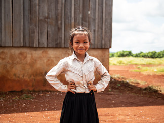 Doeun is growing up multilingual in Cambodia