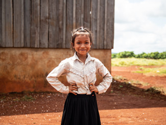 Doeun is growing up multilingual in Cambodia