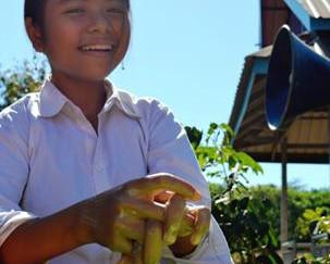 Cambodian children learn best hygiene practices