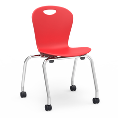V2 ZUMA Series Stacking Caster Chair