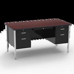 540 Teacher Desk Double Pedestal