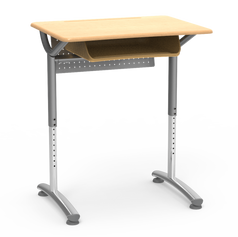 TEXT Student Desk With Book Box