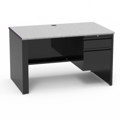 53 Desk with Right-Hand Pedestal Grey Nebula