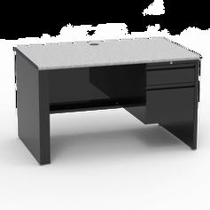 53 Desk with Right-Hand Pedestal Grey Nebula