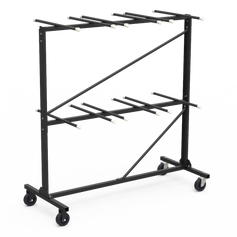 V2 Chair Truck / Storage Cart for Steel Folding Chairs Rack Style 84 Chair Capacity