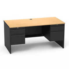 53 Desk with Double Pedestal