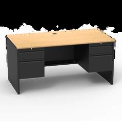 53 Desk with Double Pedestal
