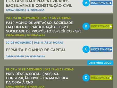 Cursos de Contabilidade para a Construção Civil com desconto para Associados