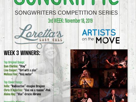 Meet week 3's winners in Songriffic competition