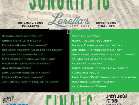Meet all 22 Songriffic Finalists competing on 1/27 at Loretta's Last Call