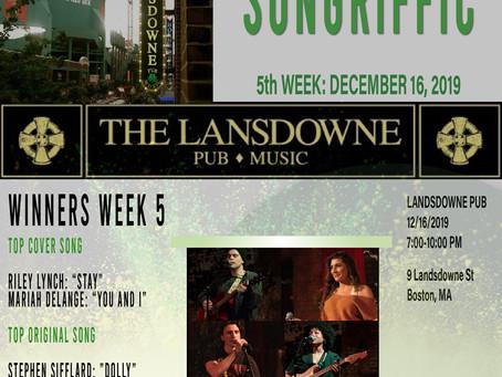 Songriffic winners December 16, 2019
