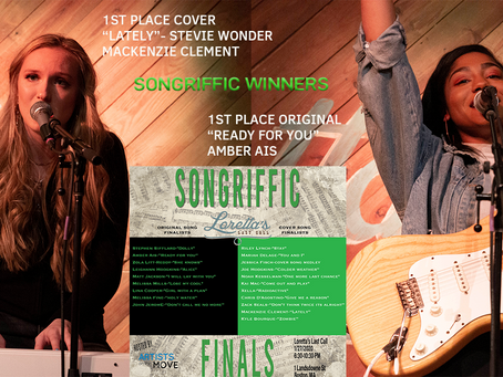 Songriffic Open Mic Competition winners