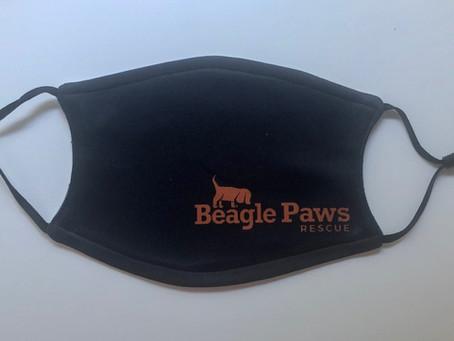 Beagle Paws Face Masks
