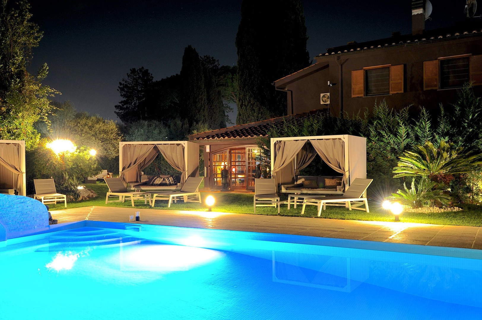 Lounge Pool by Night