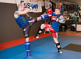 Dan Westbrook Brock Holmes Heiho Dojo Martail Arts Grande Prairie Alberta Canada Sparring MMA Muay Thai Kickboxing BJJ