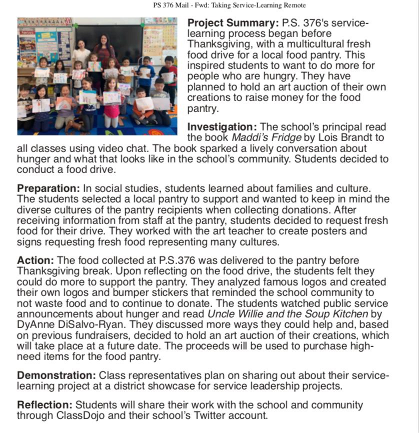 Service In School March 2020 Newsletter