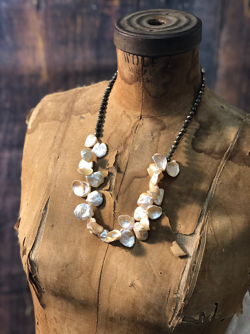 Iridescent Keshi Pearl Necklace