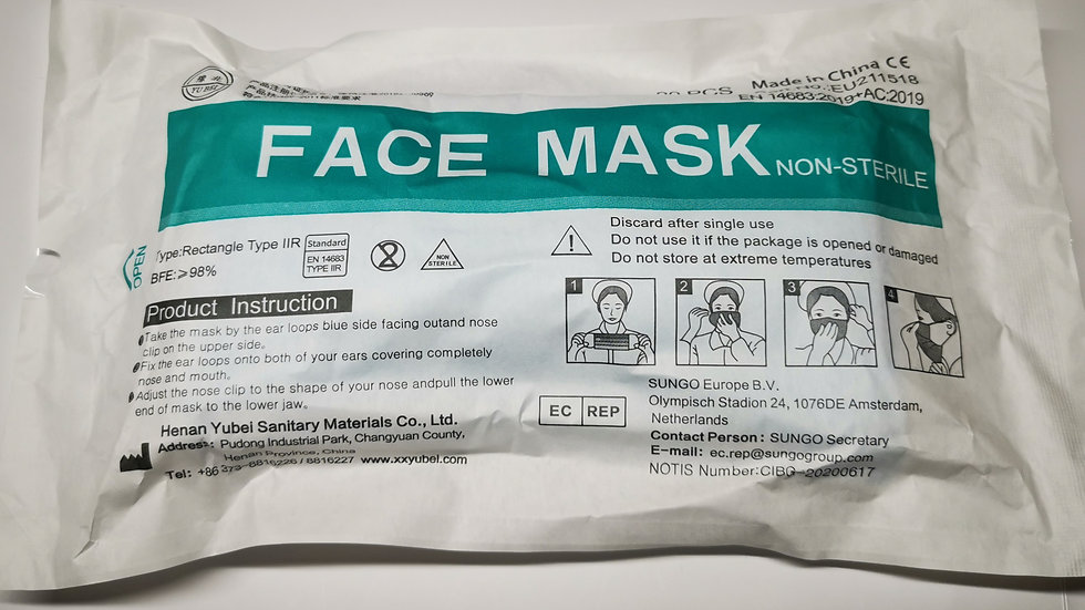 Disposable Face Mask Type IIR 20pcs/pack