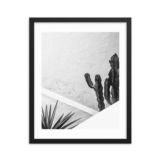 Minimal Cactus 2 Framed poster