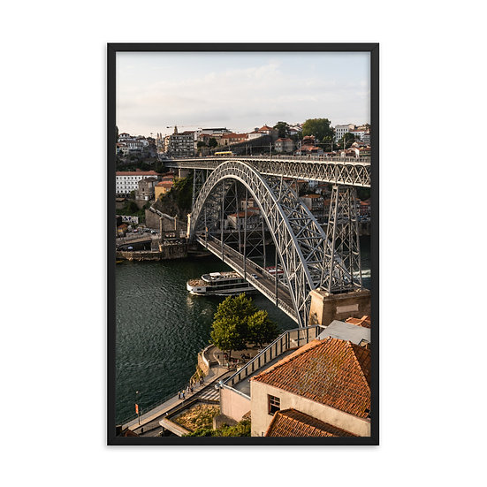 Porto Bridge Framed poster