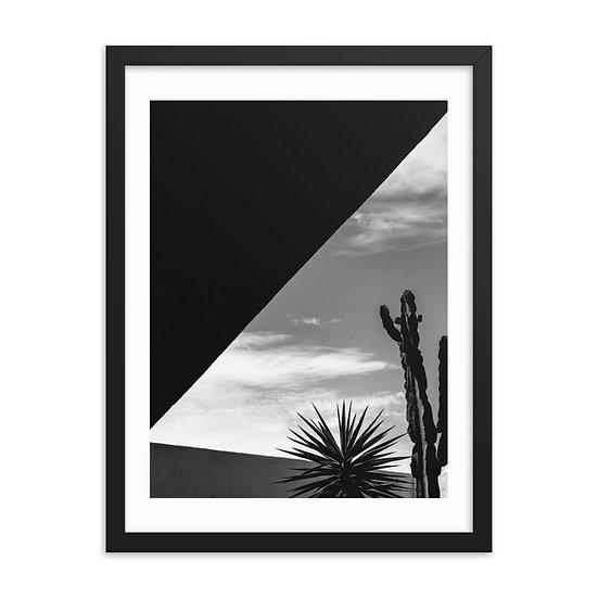 Minimal Cactus 1 Framed Print