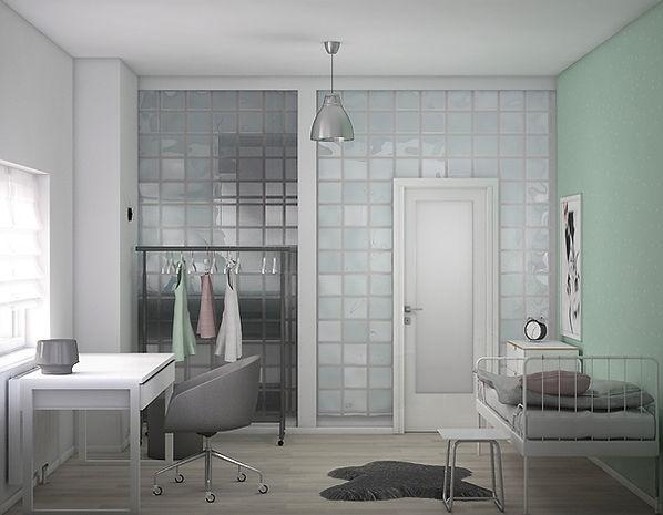 Pokój starszej córki koncepcja 2 | Architekt wnętrz Gdańsk, Gdynia, Sopot | DIZAIN RUM