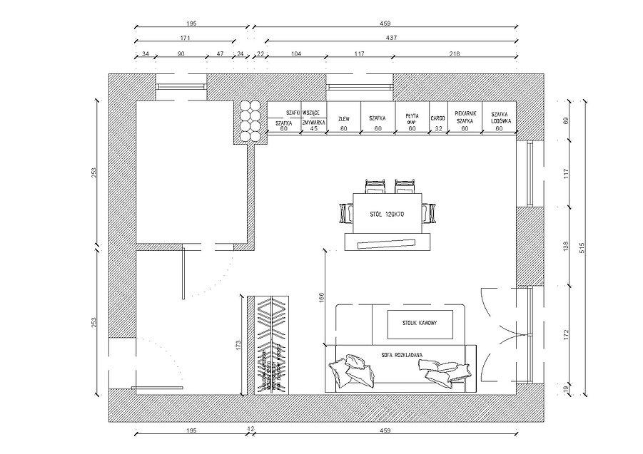 Pokój z aneksem | Architekt wnętrz Gdańsk, Gdynia, Sopot | DIZAIN RUM