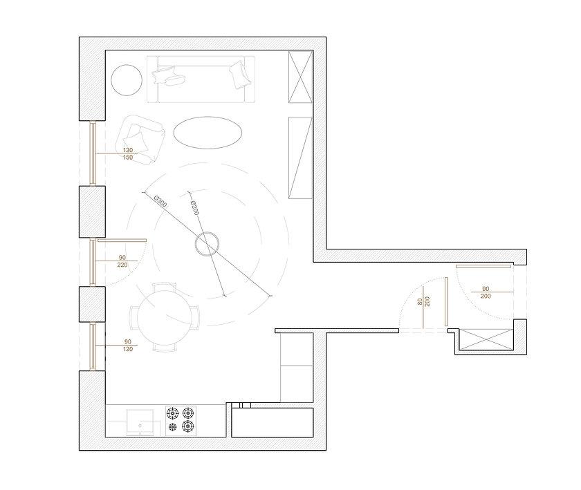 Kawalerka dla miłośniczki pole dance | Architekt wnętrz Gdańsk, Gdynia, Sopot | Dizain Rum