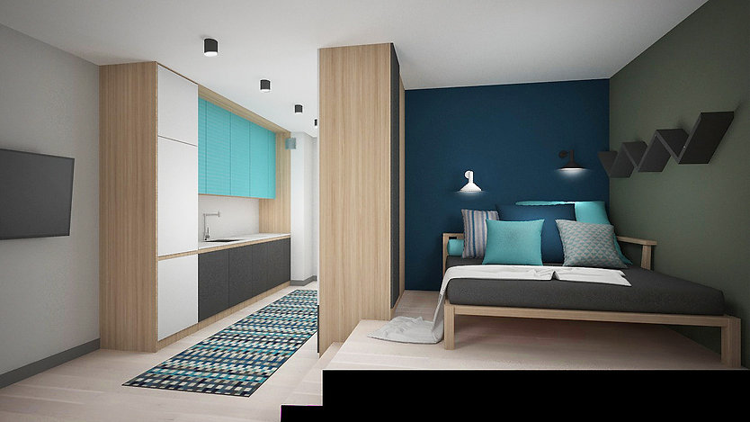 Koncepcja 1_Aranżacja mieszkania na wynajem | architekt wnętrz Gdańsk