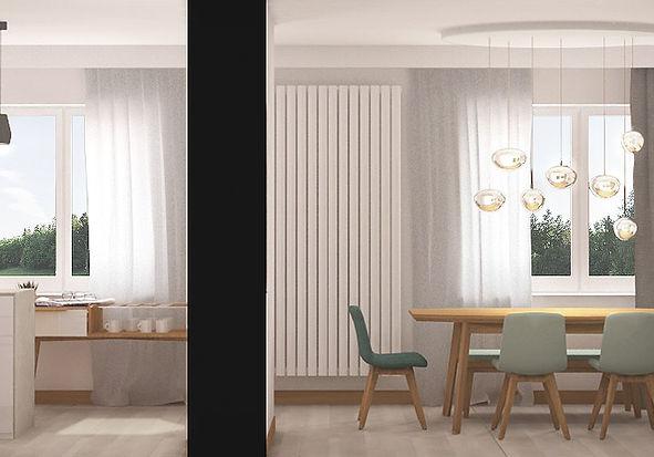 Przestrzeń dzienna w powojennym bloku | Architekt wnętrz Gdańsk | Dizain Rum