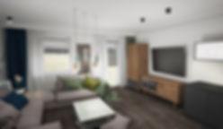 Koncepcja 2_Aranżacja mieszkania na wynajem   architekt wnętrz Gdańsk