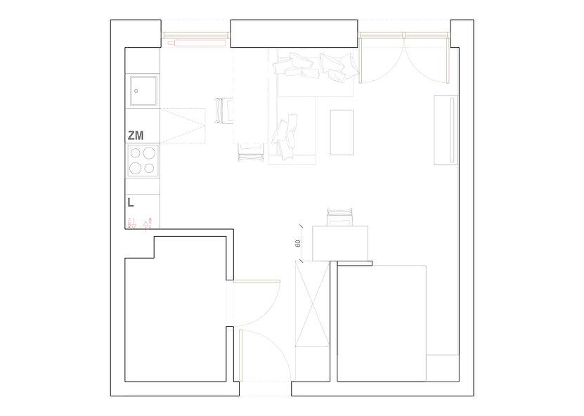 Kawalerka dla studenta | Dizain Rum | Architekt wnętrz Gdańsk, Gdynia, Sopot