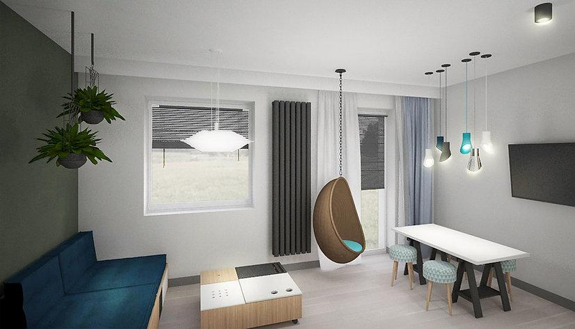 Koncepcja 1_Aranżacja mieszkania na wynajem   architekt wnętrz Gdańsk