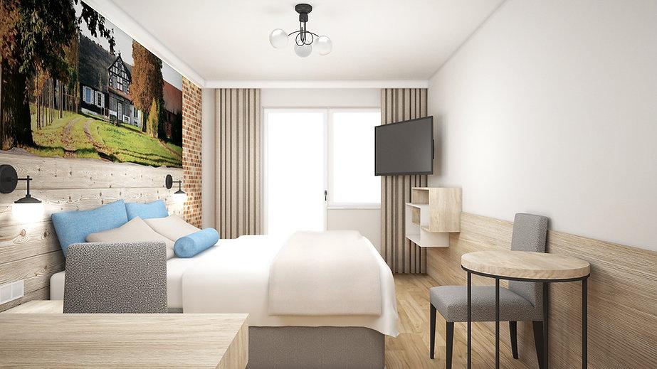 Wizualizacja hotel Krynica Morska Słoneczny Dwór | Architekt wnętrz Gdańsk, Gdynia, Sopot | DIZAIN RUM