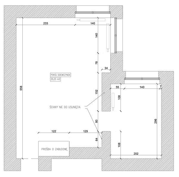 Pokój dziecięcy rzut | Architekt wnętrz Gdańsk, Gdynia, Sopot | DIZAIN RUM
